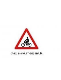 T-13 Bisiklet Geçebilir Levhası